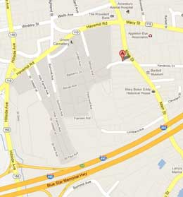 Google map directions to the Macy-Colby House, Amesbury MA