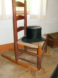 Top hat made from beaver hide