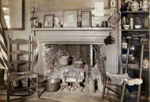 Parlor Fireplace 1930 at the Macy-Colby House