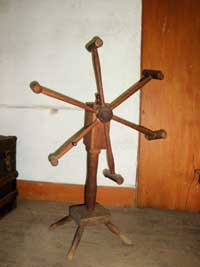 Cheese press at the Macy-Colby House