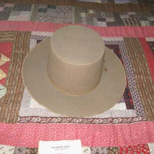 Quaker Hat belonging to John Greenleaf Whittier